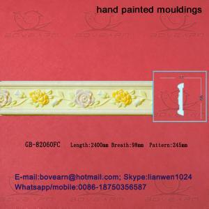 Quality Hand Painted Hollow PU cornice Mouldings /Foam Mouldings wholesale