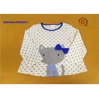 Quality 100% Cotton Baby Long Sleeve Tops , Kids Plain T Shirts For Fall / Winter wholesale