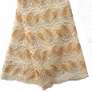 "China F50279 51""-52"" customizable gold african lace fabrics switzerland guipure latest 2015 on sale"