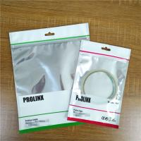China Ziplock USB Cable Plastic Pouches Packaging Resealable Mobile Phone Case Bags With Handle on sale