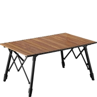Quality Bamboo Wood Anti Ultraviolet Foldable Outdoor Table For Picnic wholesale