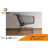 China Zinc Plated 210L Stainless Steel Shopping Trolley 4 Wheel Folding Type on sale