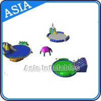 China Removable Inflatable Water Park Pool , Inflatable Slide And Pool , Inflatable WaterPark With Pool and Slide on sale