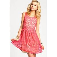 Quality Customized Slim Lace Deep V Neck Womens Party Dresses With Bowknot wholesale