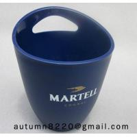 Cheap Clear dark blue plastic ice bucket for sale