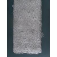 China Korea Net Lace Fabric Knitted White With Shining Sequins on sale