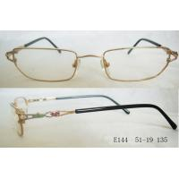 Quality New Style Optical Frames For Women , Rectangular Narrow Frames In Gold And Blue wholesale