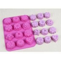 Quality Christmas Flexible Silicone Cupcake Mold Non - Stick Durable Pink wholesale