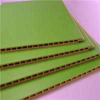 China Green Color PVC Wall Cladding / Panel , Interior Wood Plastic Composite Board on sale
