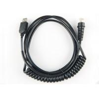 China Black Color Barcode Scanner Cable Copper Conductor 26 AWG Wire Gauge With Chip on sale