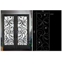 Quality Natural Lighting Elegant Inlaid Door Wrought Iron Glass For Building Hand Forged Dignified wholesale