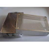 Buy cheap 40x30x5cm Perforated Metal Wire Mesh Basket Medical Disinfecting from wholesalers