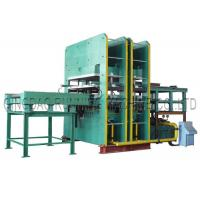 Quality 800T Pressure Rubber Hydraulic Molding Vulcanizing Machine with Automatic Mold Sliding for making Condenser seal wholesale