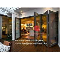 Quality Hurricane Proof Double Glazing Aluminum Folding Door,Multi-Leaf Door wholesale