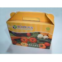 China Customized Colorful Corrugated Cardboard Fruit Packaging Box With Handle on sale