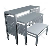 Quality clothes display shelf model, clothes display stand, commercial movable shelves wholesale