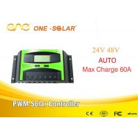 China LCD Screen Pwm Solar Charger Controller For Solar Home System  24v/48v Auto 60A on sale