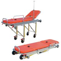 Quality Anti Corrosion Patient Transport Stretchers , Collapsible Ambulance Trolley wholesale