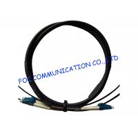 Cheap FTTA Fiber Optic Patch Cable LC 2 Core With Armored Tube High Tensile Strength for sale