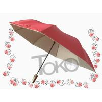 Quality 2 Section Easy Auto Open And Close UmbrellaSilver Coating Fabric /  Sleeve wholesale