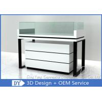 Quality Moder Nice Glossy White Jewellery Display Case With Black S/S Leg wholesale