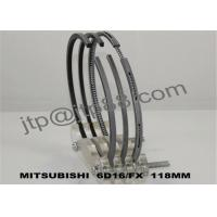 China Diameter 118mm Diesel Engine Piston Rings 6D16 ME996229 ME996231 on sale