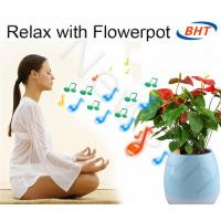 Quality Mini Smart Flower Pots Bluetooth Music Flowerpot With LED Lamp Home Office Bluetooth wholesale