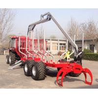 Quality CE Quality Log Loading Trailers with Hydraulic Crane and Grab Forestry/Farm Used wholesale