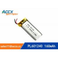 Quality 601240 pl601240 3.7v 160mah lithium polymer rechargeable battery for talking pen, recording pen, wearable product wholesale