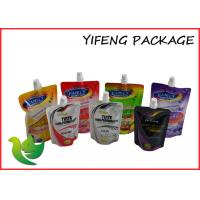Cheap Eco Friendly Standing Spout Pouch , SGS Approved Liquid Packaging Bag for sale