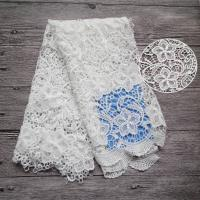 Quality Water Soluble Flower Lace Fabric By The Yard High Fastness For Women Dresses wholesale
