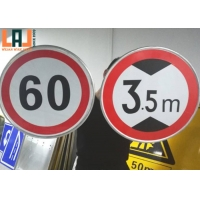 Speed Limit 7x10inch Reflective Traffic Signs UV Printing High Visibility for sale