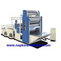 China Flat Box Packing Facial Tissue Machine With Embossing / Folding Unit And Cutting on sale