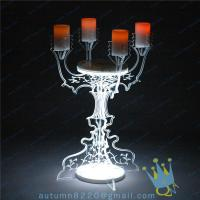 Quality CH (22) crystal Acrylic candle holder wholesale