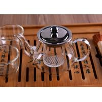 Quality Heat Resistant Borosilicate Glass Teapot with Infuser Lid Coffee Tea Leaf Herbal 360ML wholesale
