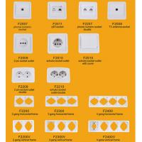 Quality Elendax Top Best Selling Wall Switch and Socket for Europe ABS Material White(F2000) wholesale