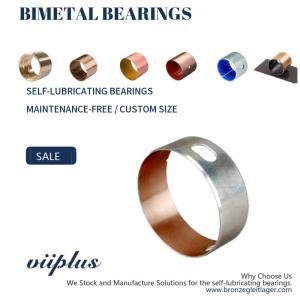 China CuPb24Sn4 Bimetallic Bearings Alloy Tin Coating Metric Flanged Oilite Bushes SAE 49 on sale
