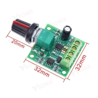 China DC 1.8V 3V 5V 6V 12V 2A PWM Motor Speed Controller Low Voltage Speed Controller PWM 0~100% Adjustable Drive Motor Module on sale