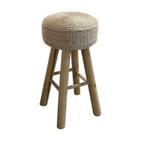 Quality Width 34cm Backless Wicker Counter Stools wholesale