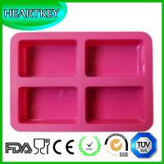 Quality 2015 New 4 Squares Silicone Cake Baking Pan Chocolate Jelly Ice Cube Cake Baking Tools wholesale