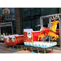Quality Christmas Childrens Train Rides , Carnival Train Ride Fiberglass And Steel Material wholesale