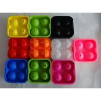Cheap colorful silicone ice spheres for christmas , silicone whisky ice ball mold for sale