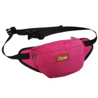 Quality Custom Canvas Fanny Pack Travel Waist Bag Red Color For Womens wholesale