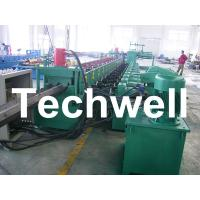 Quality 7 Rollers Leveling 10 - 12m/min W Beam Roll Forming Machine for Crash Barrier wholesale