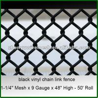 China 9gauge 5 6 foot black vinyl coated chain link fence(Factory,High quality,Since1998) on sale
