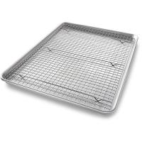 Quality Gold / silver non-stick surface mild steel cooling rack/bbq grill wire mesh wholesale