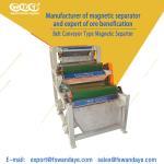 Quality 4 - 10T 3 Layer Magnetic Roll Separator , Metal Separation Equipment 1.5KW Feldspar sand Quartz wholesale