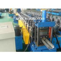 Quality Full Auto Steel Profile Frame Roll Forming Machine Hydraulic Punching wholesale