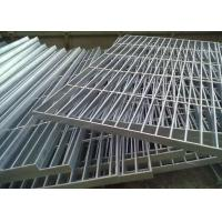 Quality Flat Bar Galvanised Floor Grating , Round Bar Galvanized Walkway Grating wholesale