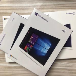 China Software Microsoft Windows Pack , Windows 10 Professional Box 32 / 64 Bit License on sale